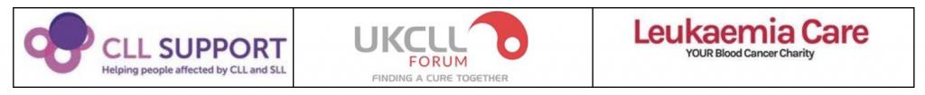 CLL, UKCLL and Leukaemia Care logos