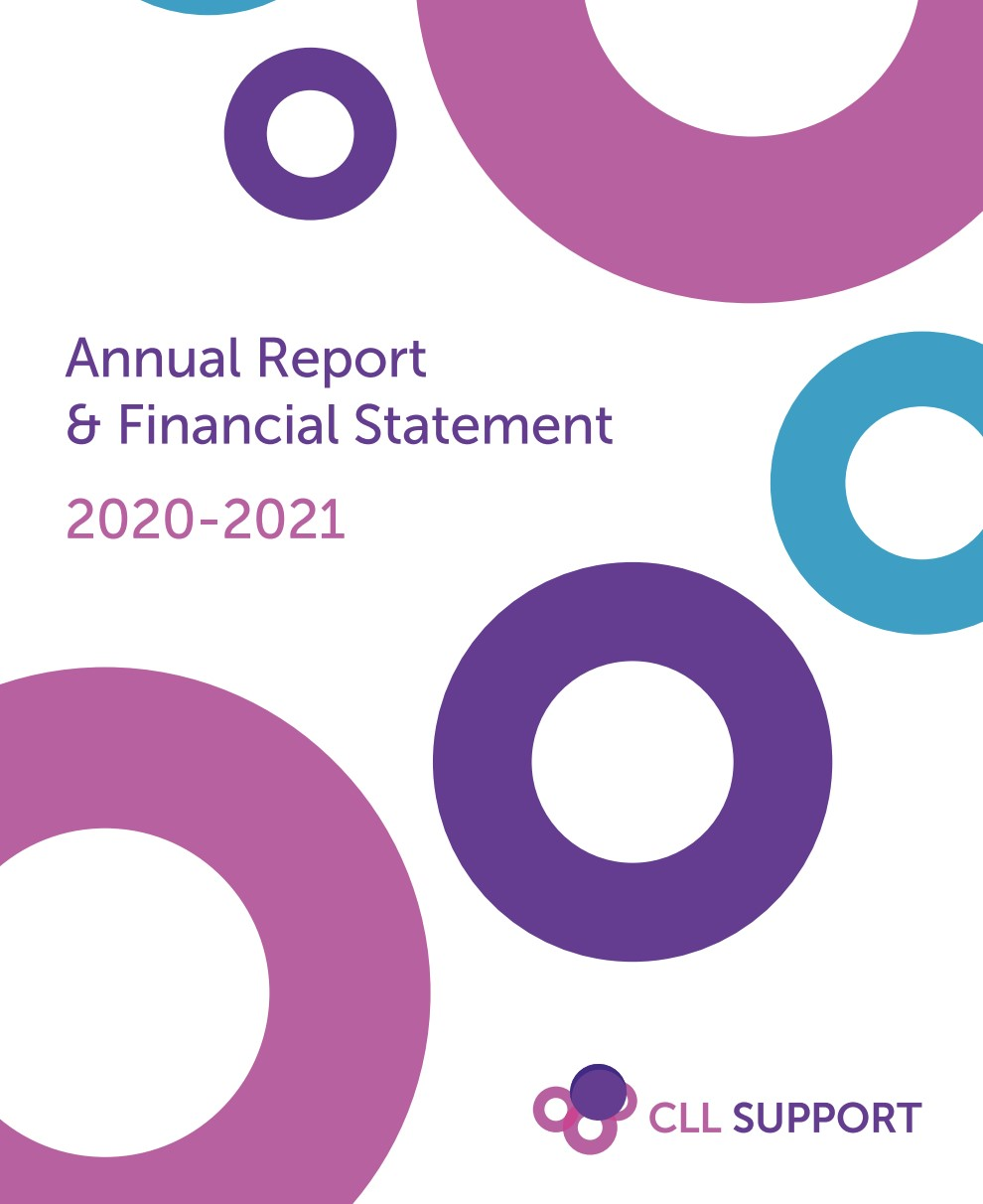 CLL Support Annual report cover